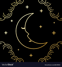 Crescent Moon Design Crescent Moon Line Art Style Design