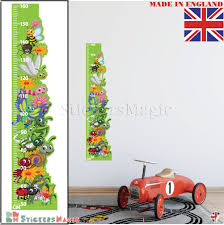 Details About Height Chart Wall Sticker Kids Growth Chart Childrens Measuring Decal Nursery