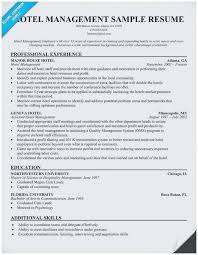Sample Resume Format For Hotel Industry Sample Resume For Hotel Management Outstanding Resume Format For