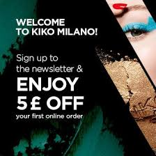 newsletter registration register now with kiko milano