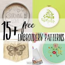 Free Hand Embroidery Patterns Cool 48 Free Hand Embroidery Patterns Swoodson Says