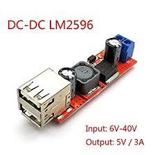 xcluma DC 6V-<b>40V</b> to 5V 3A <b>Double USB</b> Charge DC-DC Step ...