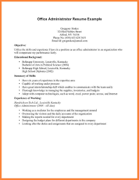 7 Example Of A Student Resume With No Experience Bussines