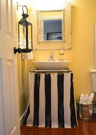 Bathroom Sink Curtains Down To Earth Style Painted Pedestal Sink Skirt Shower Curtain