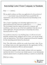 Offer Letter Acceptance Mail Format Internship Acceptance Letter Template Format Sample Example