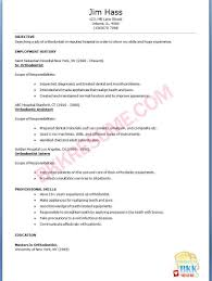Best Orthodontist Resume Cover Letter Gallery Example Resume