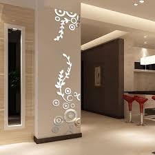 Creatieve Cirkel Ring Acryl Kristallen Spiegel Muurstickers Diy 3d