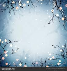Winter Holiday Bokeh Blue On Matte Red Background Tree