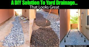 a diy solution to yard drainage that looks great