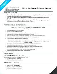 Security Guard Resume Police Resume Samples Sample Security Officer