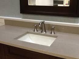 pompeii quartz taupe transitional bathroom miami