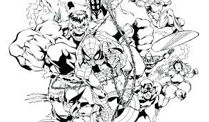 Coloring Pages Avengers Infinity War Marvel Printable Colouring