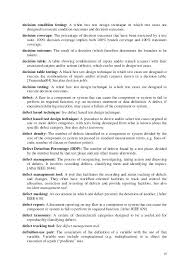 Glossary Of Testing Terms Decision Resume Templates Free Download ...
