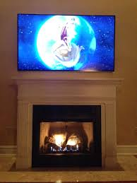 75 tv above fireplace google search