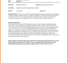 Sample Cover Letteror Internal Position Job Posting Email Parts Of