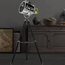 modern spot lighting. LOFT Industrial Tripod Spot Lighting Floor Lamp In Chrome Finish Modern