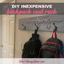 inexpensive diy rustic coat rack with hooks