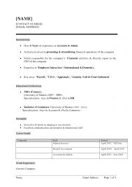 Format Of Fresher Resume How Important Are Sensory Images In Latest