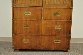 campaign style dresser. American Vintage Campaign Style Chest Or Dresser By Henredon For Sale In