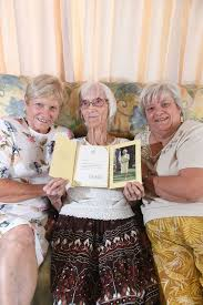 Ivy Johnson celebrates her 100th birthday with daughters Desley Marr ... |  Buy Photos Online | Sunshine Coast Daily