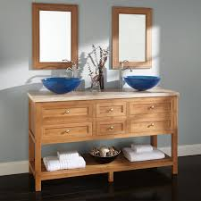 Bamboo Bathroom Sink 60 Thayer Bamboo Double Vessel Sink Vanity Bathroom