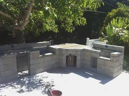 how to build outdoor kitchen with cinder blocks image fireplace rh shigotono1 com