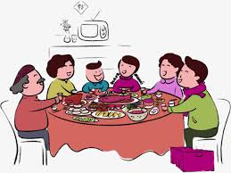 dinner table clipart. Perfect Clipart Reunion Dinner Table Chinese New Year Food Reunion Dinner PNG Image And  Clipart For Table I