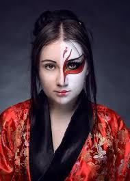 artistic half face painting of anese kabuki masks tokyomask