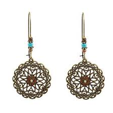 Tanwpn 1Pair Bohemian National Style Hollow Water ... - Amazon.com