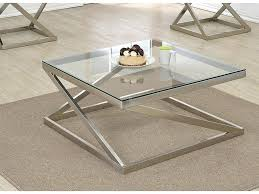brushed nickel clear glass coffee table lincoln with stools set