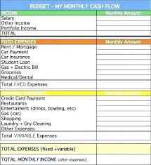 Monthly Cash Flow Statement Template Beautiful Credit Card