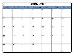 blank 2018 calendars january 2018 calendar january 2018 calendar printable