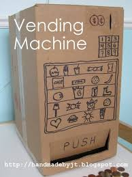 How To Make A Vending Machine Out Of Cardboard Box Extraordinary My Handmade Home Day 48 Of Cardboard Vending Machine
