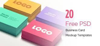20 Free Psd Business Card Mockup Templates Free Psd Files