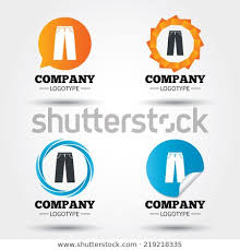Pants Logos Mens Jeans Pants Sign Icon Casual Stock Vector Royalty Free