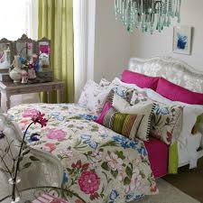 lotus flower jewel coloured fl bedding set by designers guild