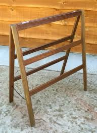 wooden blanket rack tier quilt rack a frame ladder style folds flat for storage image on wooden blanket rack wooden quilt