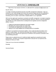 How To Write Email Cover Letter For Resume Leading Professional Traffic and Production Manager Cover Letter 49