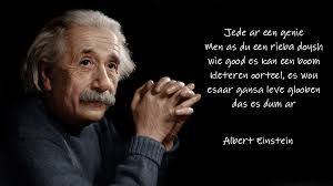 An Albert Einstein Quote Translated Into Atlaans Silly Linguistics