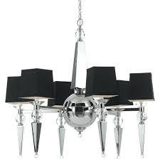 black mini chandelier lamp shades af lighting clark 6 light chrome chandelier with crystal accents and black shade black chandelier shades silver lining