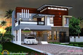modern home design. Ultra Modern Home Design Plans Sq Ft Contemporary House Kerala And Floor
