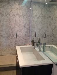 bathtub refinishing des moines iowa beautiful this modern bathroom has recycled glass mosaic tiles on the