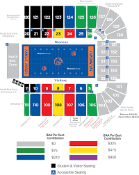 Jpj Seating Chart 70 Studious Bsu Football Seating Chart