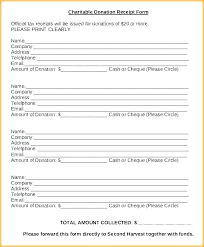 Sample Donation Form Clothing Donation Form Template
