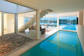 house, pool, and luxury image. architecture  inside pool