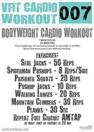 cardio bodyweight workout 007