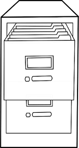 file cabinets clip art. Perfect Art Filing Cabinet Line Art Vector Image Throughout File Cabinets Clip Art I
