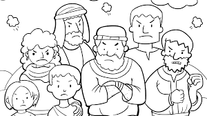 Baby Moses Coloring Page Colouring Bible Story Pages In The