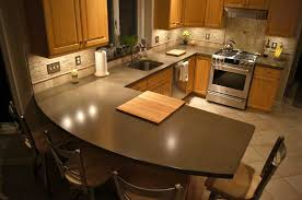 beautiful natural gray concrete countertop with subtle variegated pattern