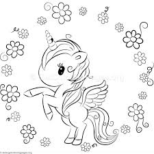 Cute Unicorn Coloring Pages A Really Girl Page